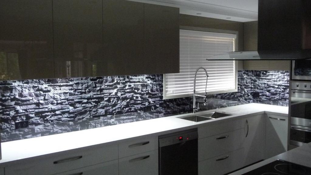 Gold Coast Glass Splashback - In Glass Design
